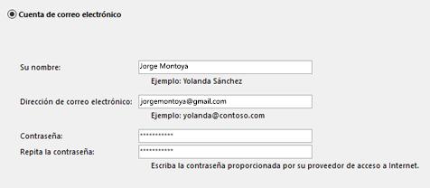 Escriba su dirección de correo electrónico y contraseña