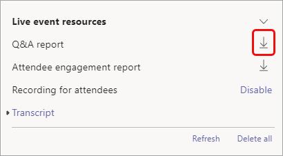 El informe está disponible después del evento