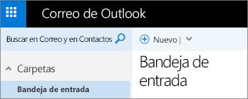 Aspecto de la nueva cinta de Outlook.com