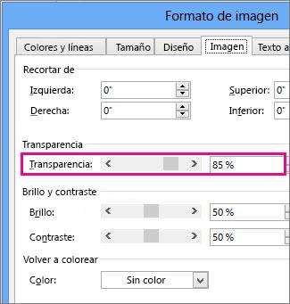 Captura de pantalla del cuadro de diálogo Formato de imagen en Publisher.