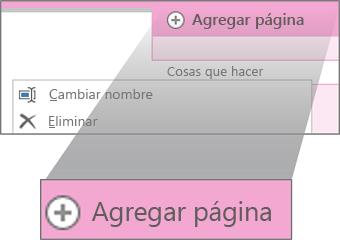 Cambiar el nombre de una página