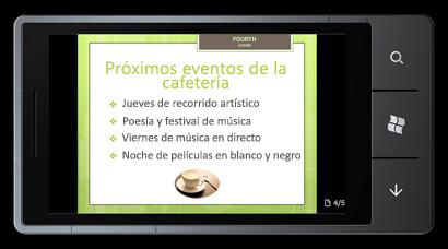 PowerPoint Mobile 2010 para Windows Phone 7: Editar y ver desde el teléfono