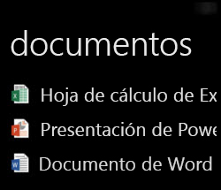 Visualización de documentos del escritorio en Windows Phone cuando se está ejecutando Office Remote