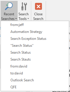Botón de búsquedas recientes