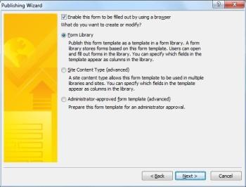 InfoPath 2010: publicar un formulario
