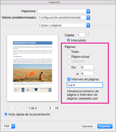 como imprimir en mac desde windows