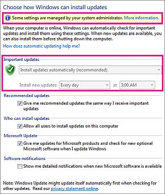 Configuración de la actualización automática