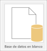 Icono de una base de datos en blanco