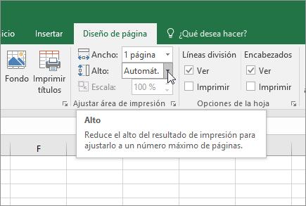 Escalar una hoja de cálculo - Excel
