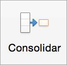 El botón Consolidado en la pestaña Datos