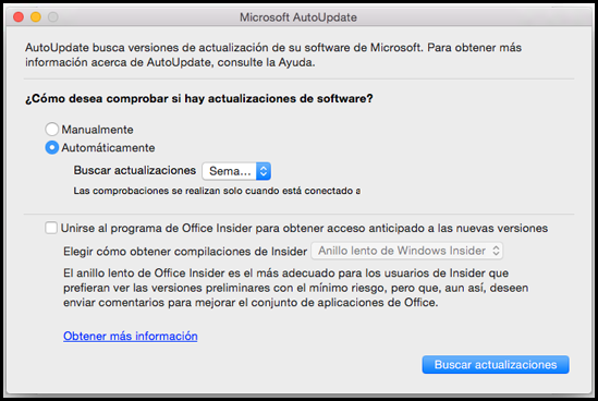 Office para Mac AutoUpdate