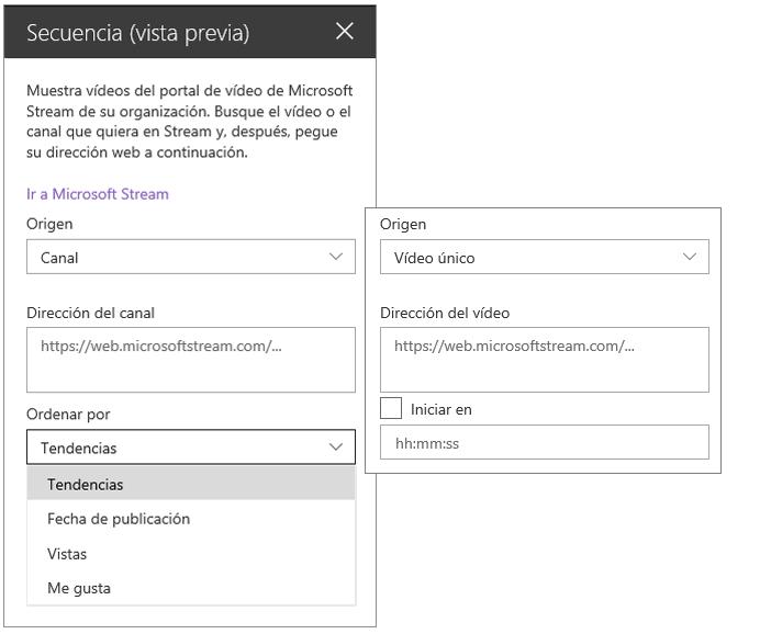 Cuadro de herramientas de vídeo de Microsoft Stream