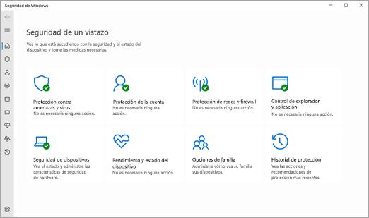 La aplicación Seguridad de Windows en Windows 11