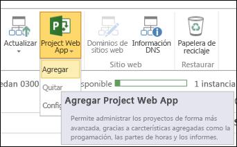 Project Online > Agregar