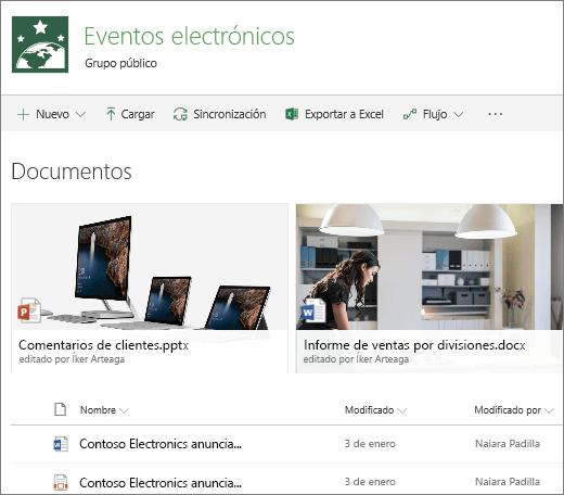 Biblioteca de documentos de SharePoint