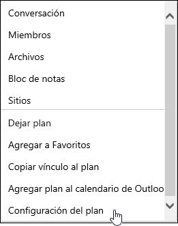 Recibir correo electrónico sobre un plan