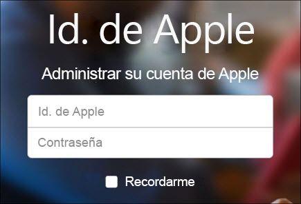 Inicie sesión con su nombre de usuario y contraseña de iCloud