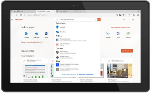 Microsoft Search en Office para la web