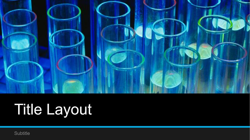 Captura de pantalla de la portada de una presentación de laboratorio