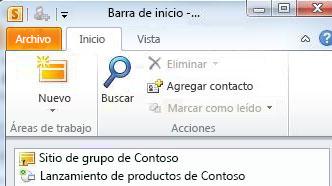 Espacio de trabajo de SharePoint marcado con un icono de error de sincronización