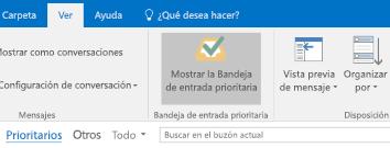 Característica de bandeja de entrada ordenada de Outlook