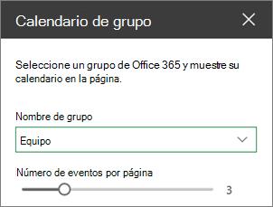 Cuadro de herramientas de calendario de grupo