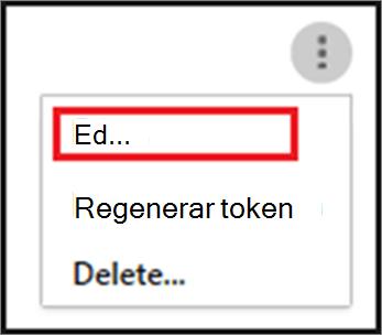 Para editar al agente SIEM, elija los puntos suspensivos y, a continuación, elija Editar.