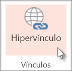 En la pestaña Insertar, haga clic en Hipervínculo.