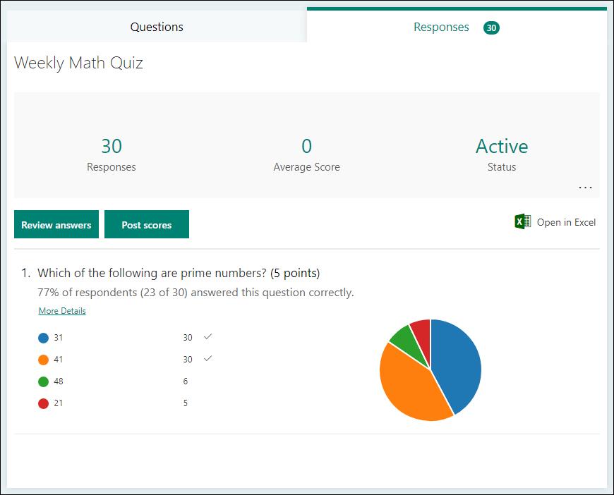 Ficha respuestas para una prueba
