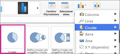 Selector de tipo de gráfico de Office para Mac