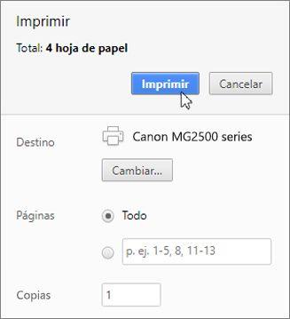 Haga clic en Imprimir