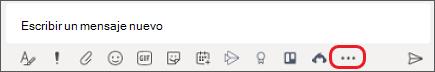 Cuadro en el que escribe Mensajes en Microsoft Teams