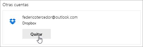 Una captura de pantalla del botón Eliminar.