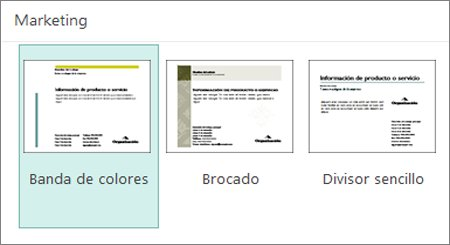 Plantillas de postales de marketing para Publisher