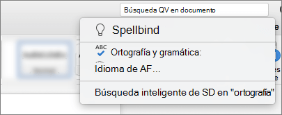 La información Me cuadro de búsqueda en Word para Mac 2016