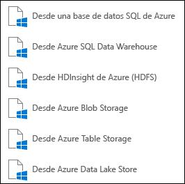 Obtener datos de Microsoft Azure