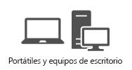 Portátiles y equipos de escritorio