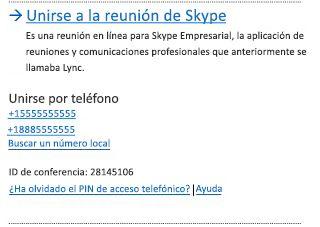 Interfaz de usuario de Skype para unirse a una reunión