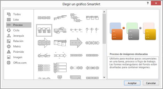 Crear un diagrama de flujo con smartart soporte de office seleccionar un proceso ccuart Images