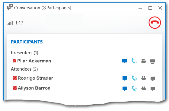 Lista de participantes