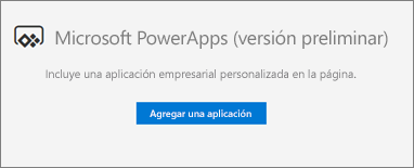 Botón Agregar una aplicación