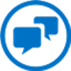 Icono de personas conversando