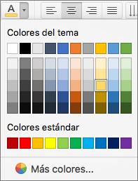 Elegir un color de fuente