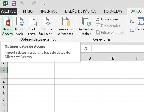 Importar datos desde Access