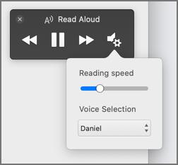 Cambiar la velocidad de lectura