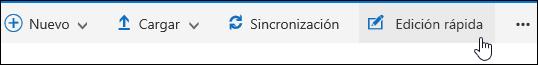 Use la edición rápida para modificar una vista personalizada de una biblioteca de documentos