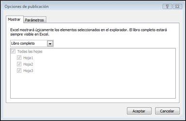 Seleccionar hojas de cálculo o elementos