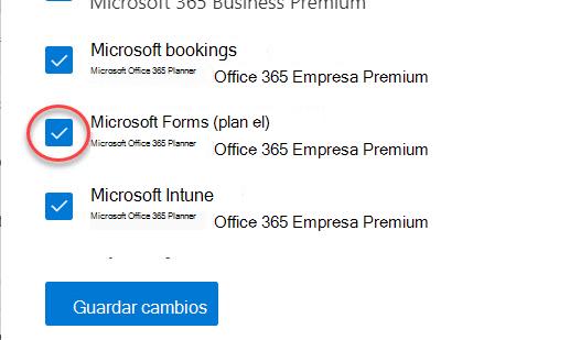 Alternancia de Microsoft Forms