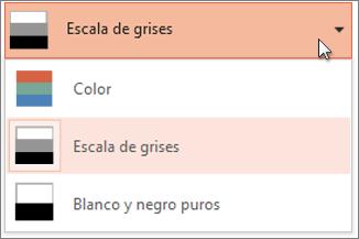 Elegir una combinación de colores para la copia impresa