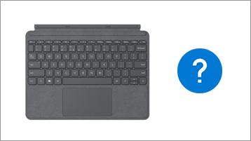 Funda con teclado de Surface y signo de interrogación